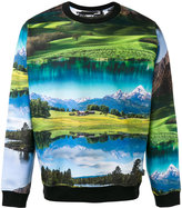 Love Moschino landscape print sweatshirt - men - Cotton - M