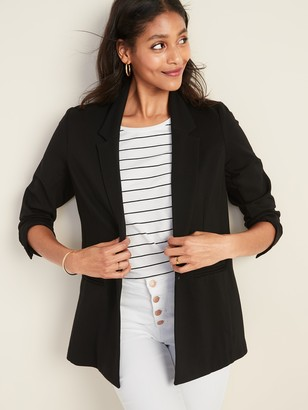 Old Navy Ponte-Knit One-Button Boyfriend Blazer for Women
