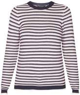 Dorothy Perkins Navy and Pink Stripe Stitch jumper