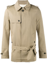 Valentino short trench coat - men - Cotton/Polyester/Cupro - 48