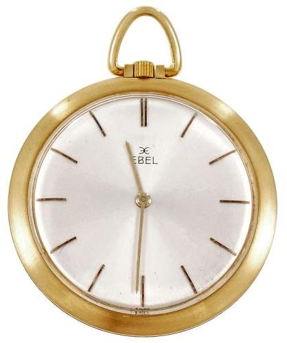 Ebel 18K Yellow Gold Manual Unisex 38mm Pocket Watch 1960