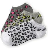 Aeropostale 3-Pack Leopard Ped Socks