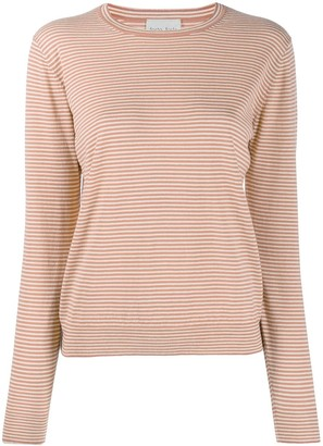 Forte Forte Striped-Print Crew Neck Top