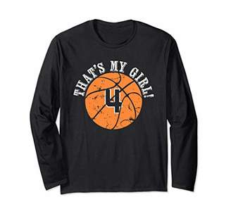 Unique That's My Girl Basketball Player Mom or Dad Gifts Long Sleeve T-Shirt