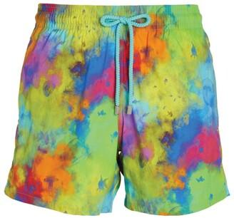 Vilebrequin Paint-Splattered Swim Shorts