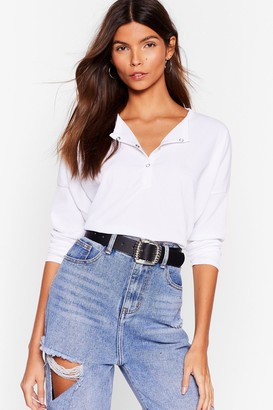Nasty Gal Womens It's Poppin' Snap Closure Ribbed Top - White - 4, White