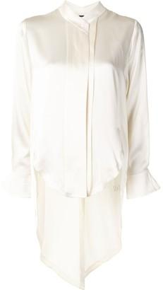 Alexis Asymmetric-Hem Long-Sleeve Shirt