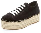 Miu Miu Suede Platform Espadrille Sneaker