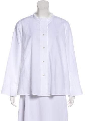 Oska Long Sleeve Button-Up Blouse