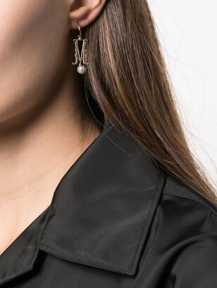 Simone Rocha M initial single hoop earring