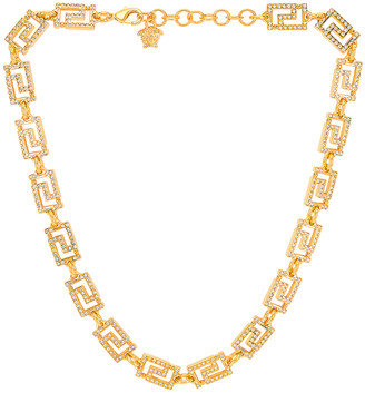 Versace Necklace in Crystal & Hot Gold | FWRD