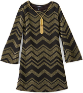 Amy Byer Gold Zigzag Shift Dress - Girls