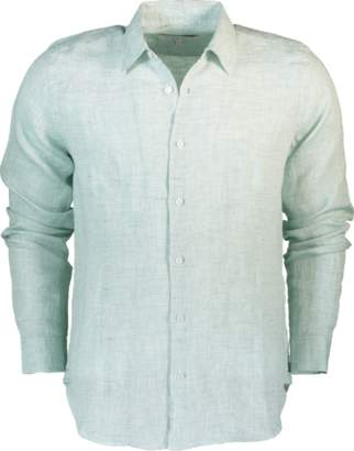 Orlebar Brown Morton Linen Sea-Foam Tailored Linen Shirt