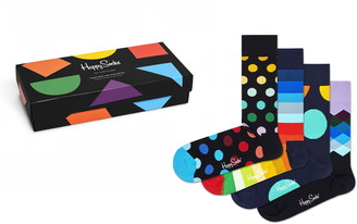 Happy Socks Assorted 4-Pack Multicolor Socks