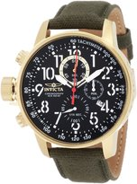 Invicta Men's 1875 Force Chronograph Dial Green Cloth Strap Watch