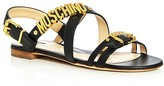 Moschino Logo Strappy Slingback Sandals