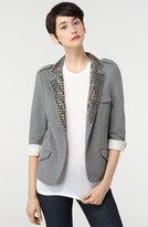 Gryphon Studded Collar Fleece Blazer