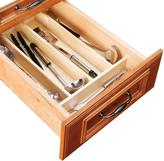 Home Decorators Collection 10x3x19 in. Utensil Tray Divider for 15 in. Shallow Drawer in Natural Maple