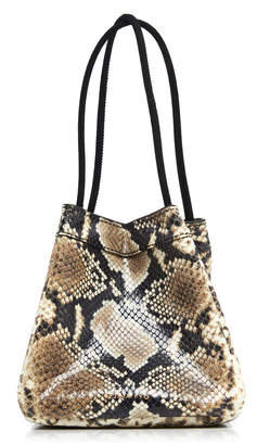 REJINA PYO Rita Snake-Effect Leather Tote