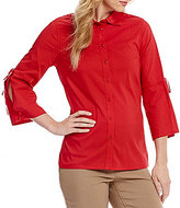 Westbound Button Front Bell Sleeve Shirt