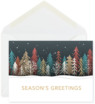 Carlson Craft Colored Treeline Greeting Cards Set of 25