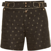 Chloé Diamond-jacquard high-waisted shorts