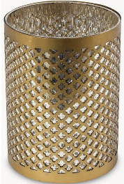 Sue Parkinson Home Collection - Sunningdale Etched Lantern - Small - Gold