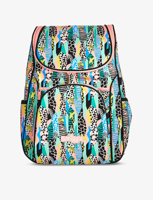 Smiggle Illusion Reflective Access wild-print woven backpack
