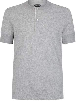 Tom Ford Short-Sleeved Cotton Half-Button T-Shirt