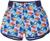 Andy & Evan Glasses Print Swim Trunks (Baby) - Light Blue 12-18 Months