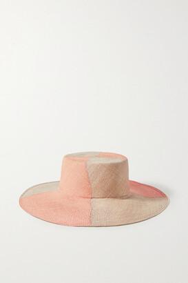ARTESANO Lucca Two-tone Straw Hat - Coral