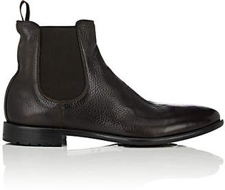 Barneys New York Men's Washed Leather Chelsea Boots - Brown