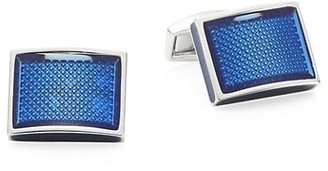 Tateossian Rettangolo Ice D-Shape Cufflinks