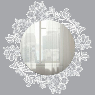 Room Mates Lace Wall Decals With Mirror