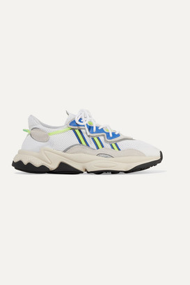 adidas Ozweego Suede And Neoprene-trimmed Mesh Sneakers - White