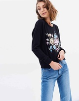 Sass Floral Embroidered Sweater