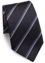 Armani Collezioni Striped Woven Jacquard Silk Tie