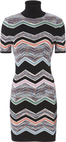 Missoni Zig Zag Short Sleeved Turtleneck Dress