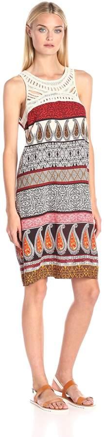 MSK Women's Crochet Neck Challi Dress