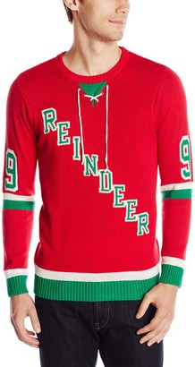 Blizzard Bay Men's Rudolph Jersey Ugly Christmas Sweater