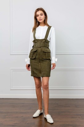 J.ING Moss Belted Underbust Pinafore