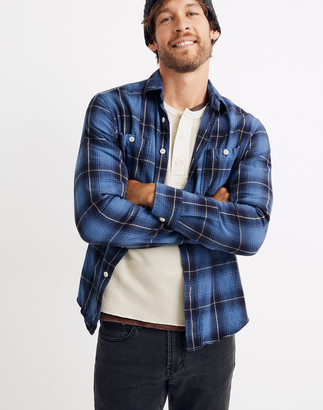 Madewell Flannel Long-Sleeve Workshirt in Amory Plaid