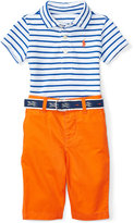 Ralph Lauren Striped Polo & Twill Pants Set, Baby Boys (0-24 months)
