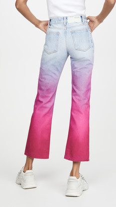 Off-White Off White Degrade Cropped Jeans