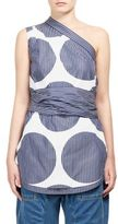 Stella McCartney One-Shoulder Mixed Striped Top