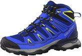 Salomon L39039100 Men's X Ultra Mid 2 GTX Hiking Boots, Blue Depth/Union Blue/Gecko Green, 13 D (M) US