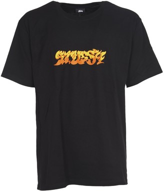 Stussy Black T-shirt With Logo