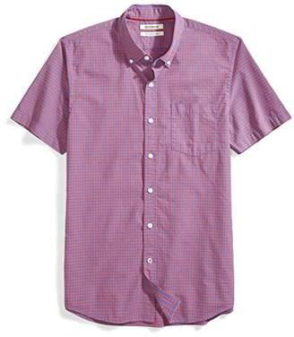 Goodthreads Men's Slim-Fit Short-Sleeve Gingham Plaid Poplin Shirt