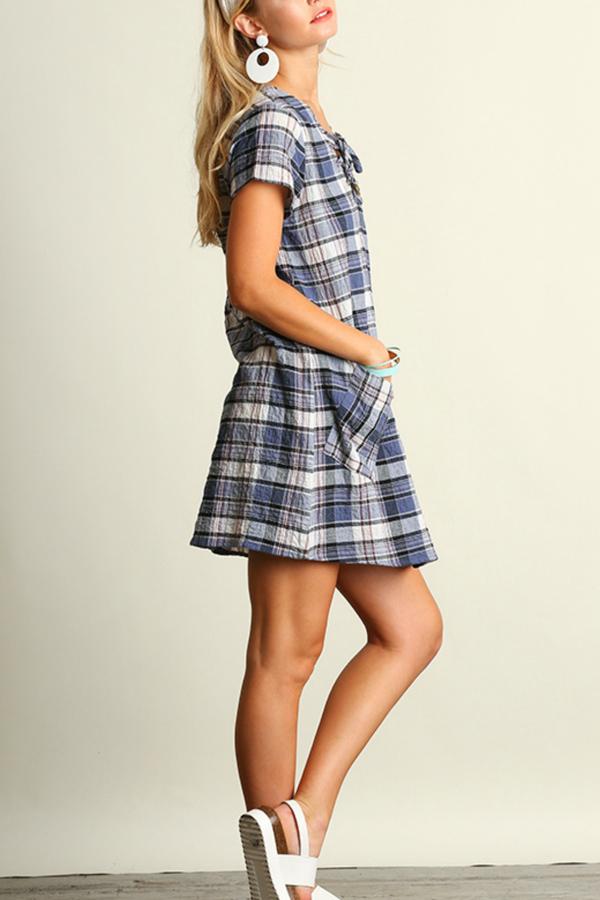 Umgee USA Plaid Shift Dress