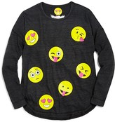 So Nikki Girls' Assorted Emoji Graphic Drop Shoulder Tee - Sizes S-XL